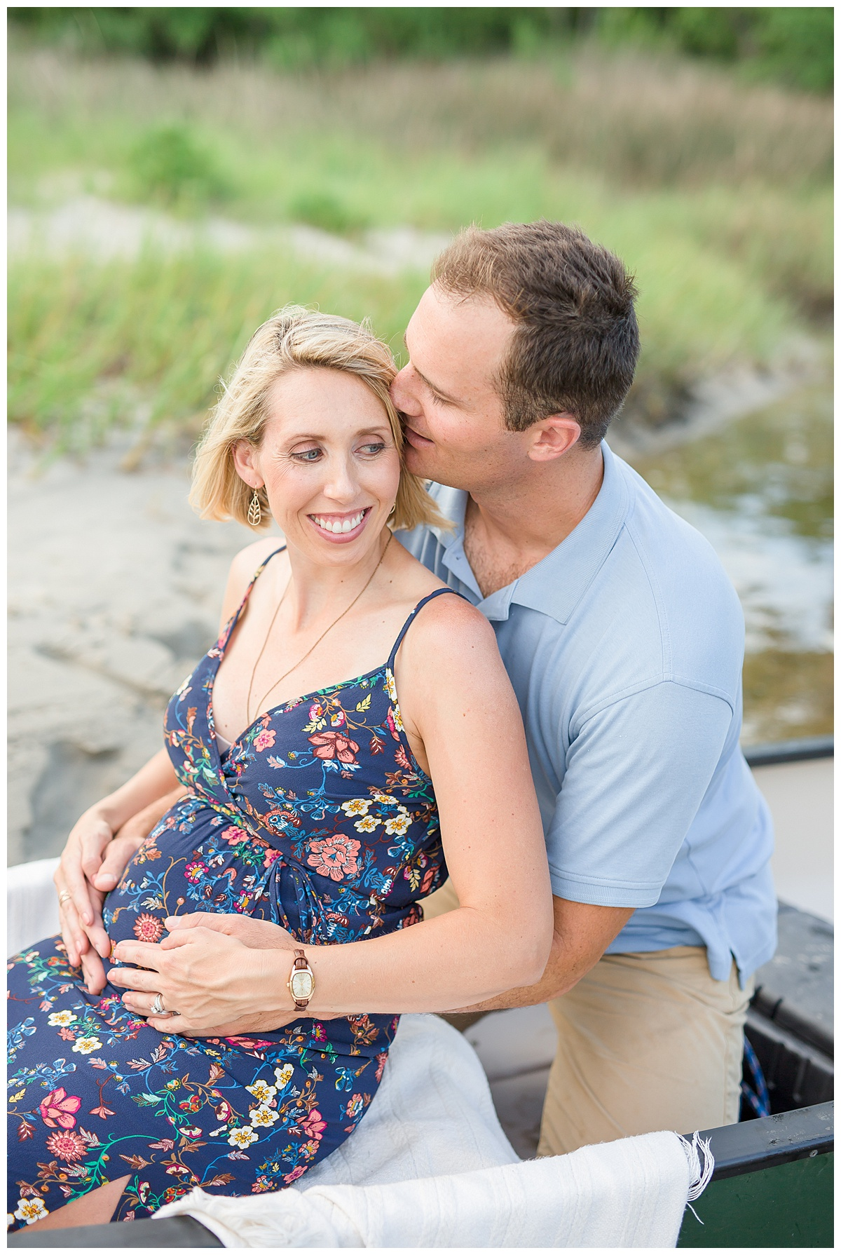 Michele + Jake's Maternity Session // First Landing State Park