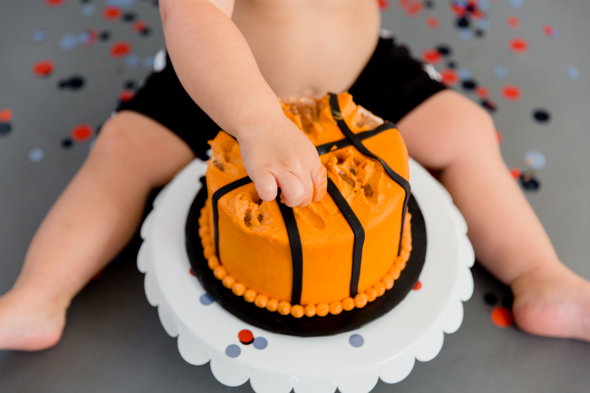Grant's 2 Year Old Cake Smash Session – The Studio Hampton Roads