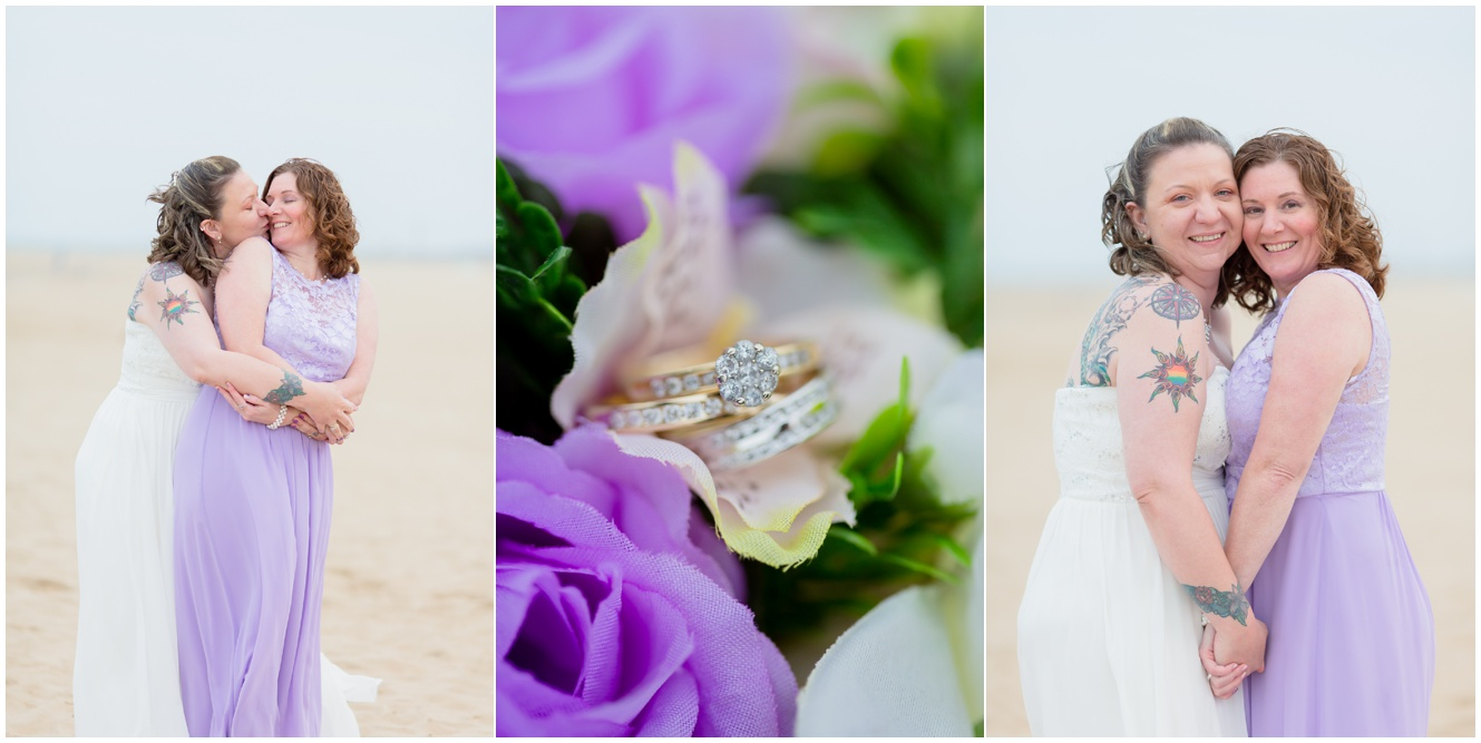 sami roy photography virginia beach oceanfront wedding, same sex wedding virginia beach