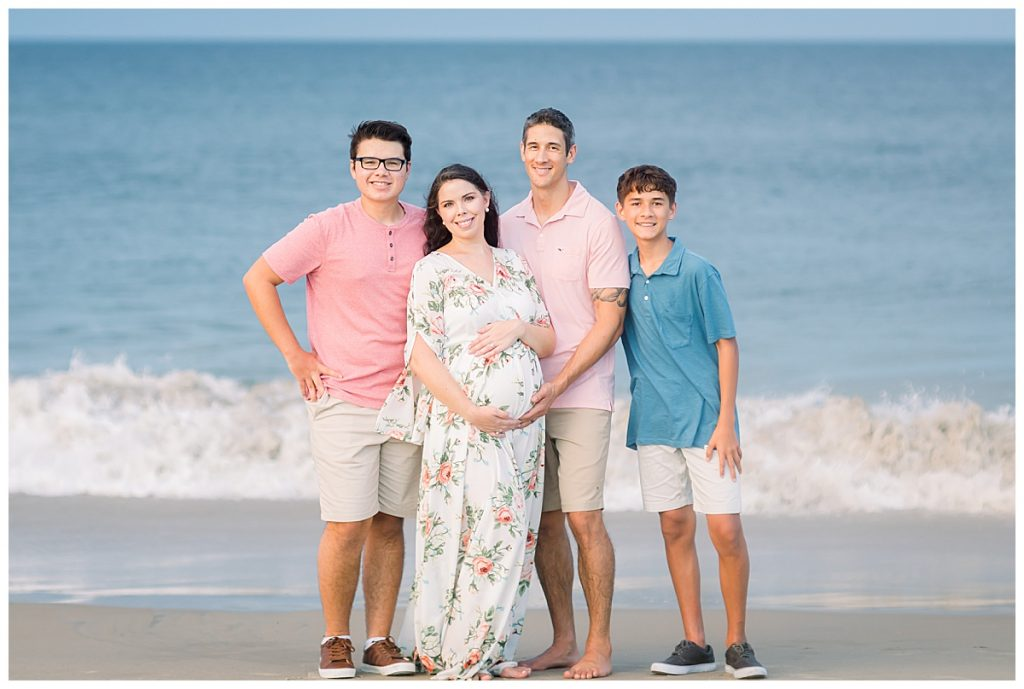 pink and blue maternity session, Sarah and Tommy, beach Maternity Session, Sami Roy Photography