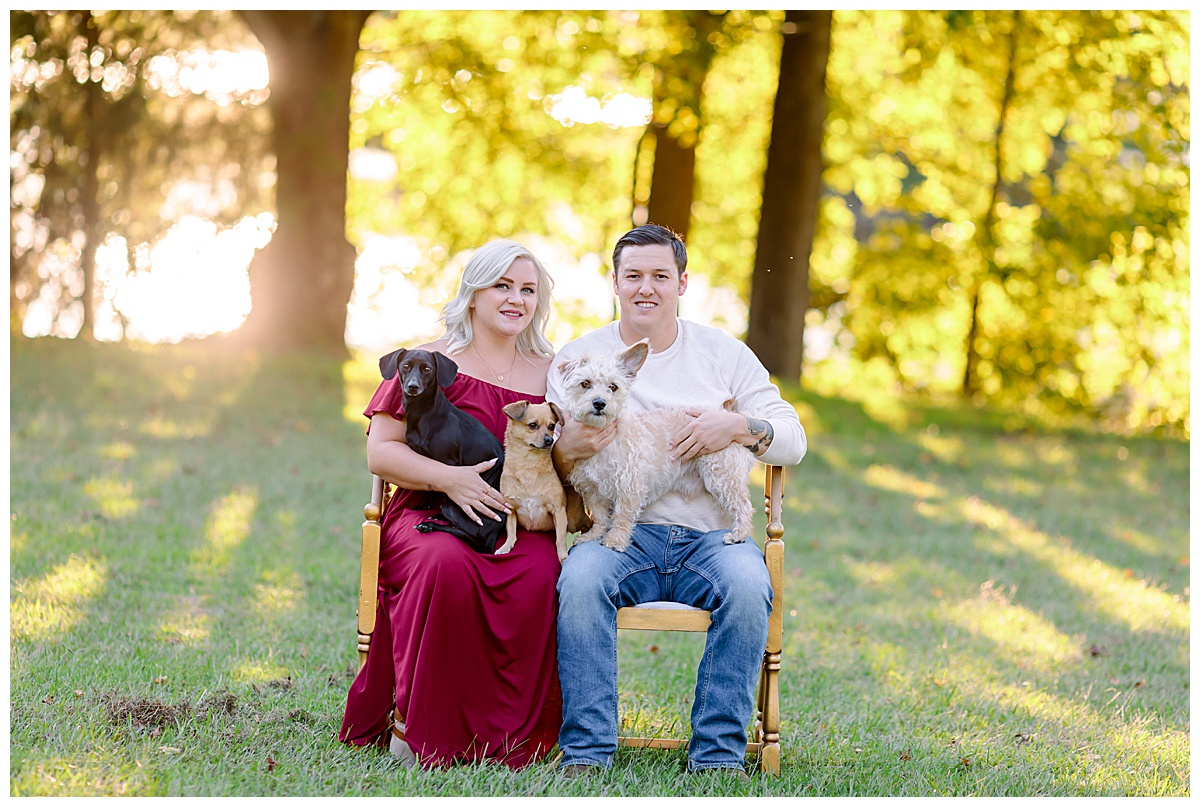 Ashley & Luke // Fall Engagement Session // Munden Point Park