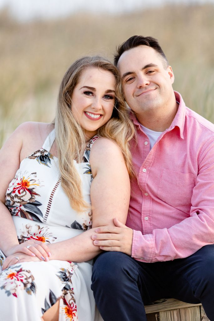 smiling couple, engagement session